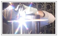 We hand form and weld our stainless steel evaporators.